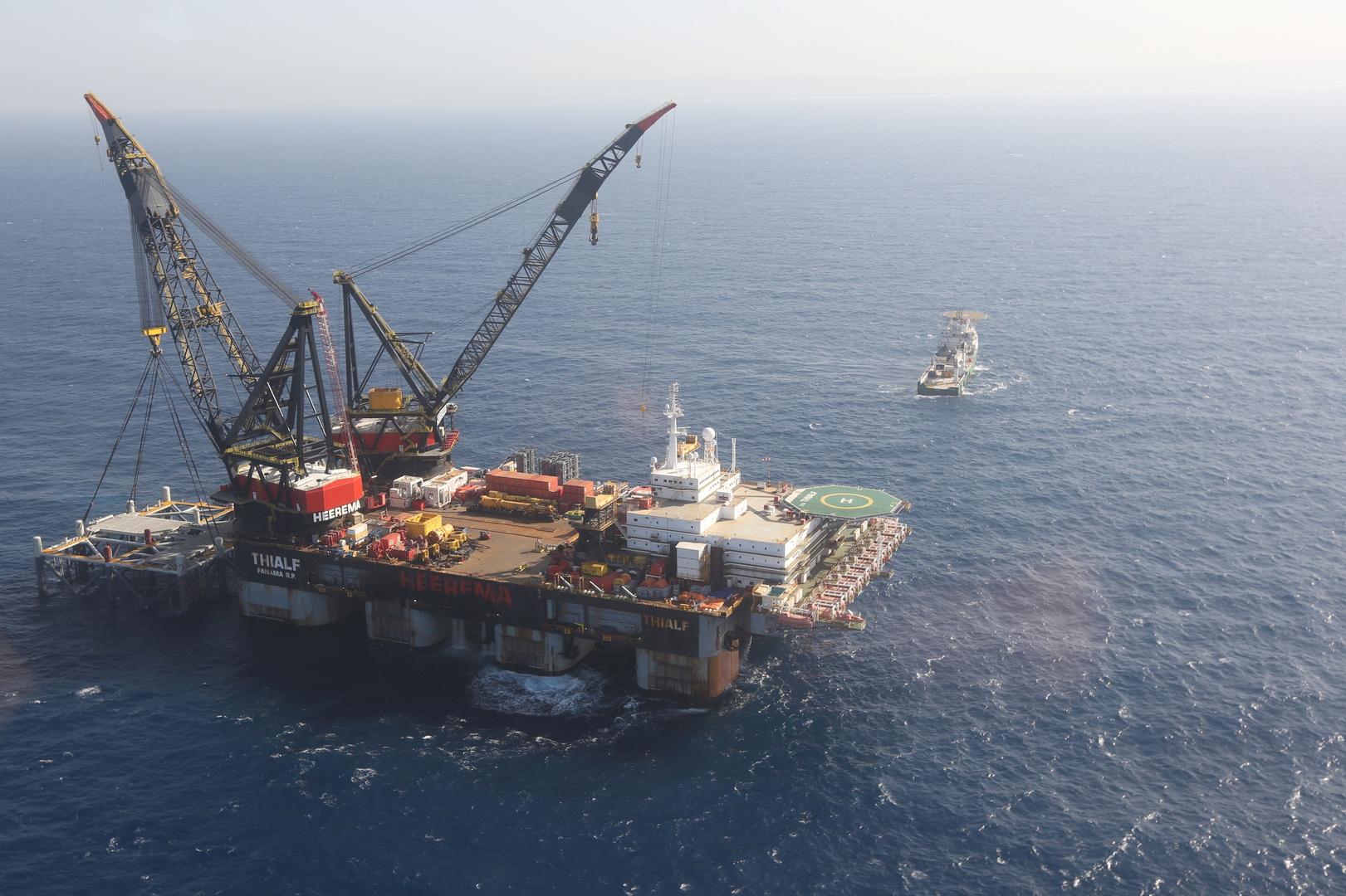 منصة لاستخراج الغاز في حقل ليفياثان الإسرائيلي