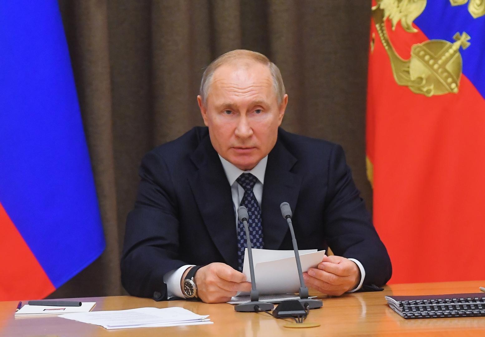 بوتين: الولايات المتحدة تنظر إلى الفضاء كساحة للحرب وعلينا تعزيز مجموعة أقمارنا