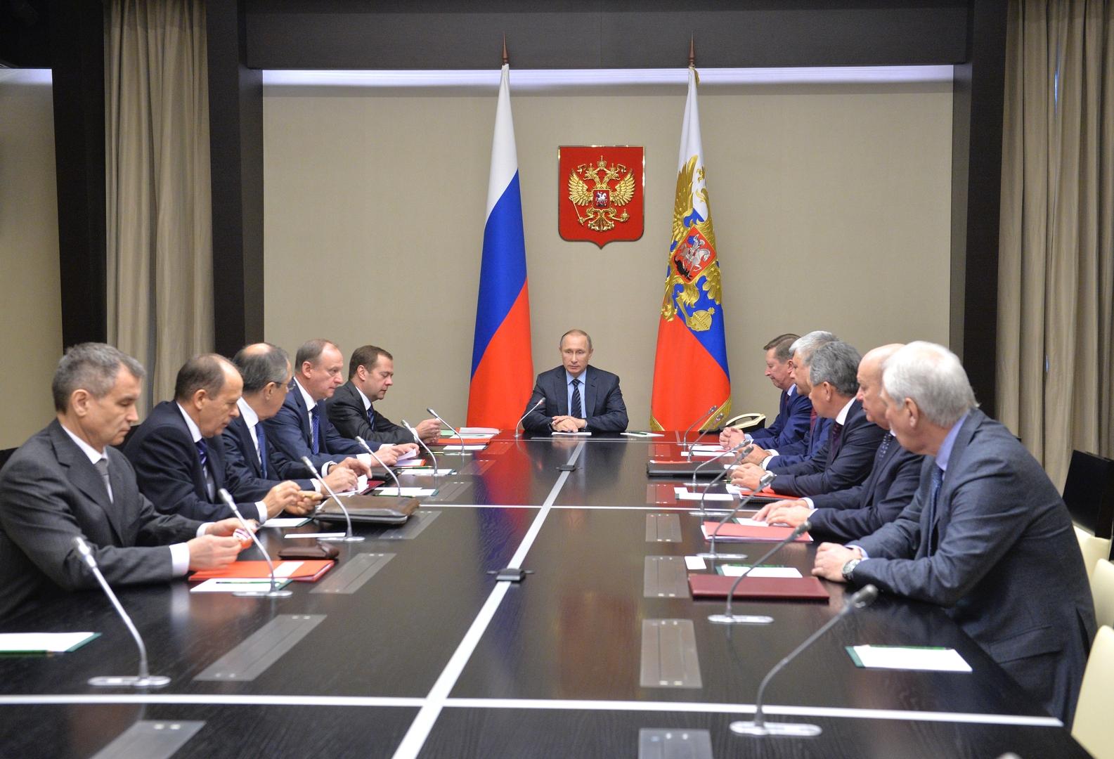جلسة لمجلس الأمن الروسي