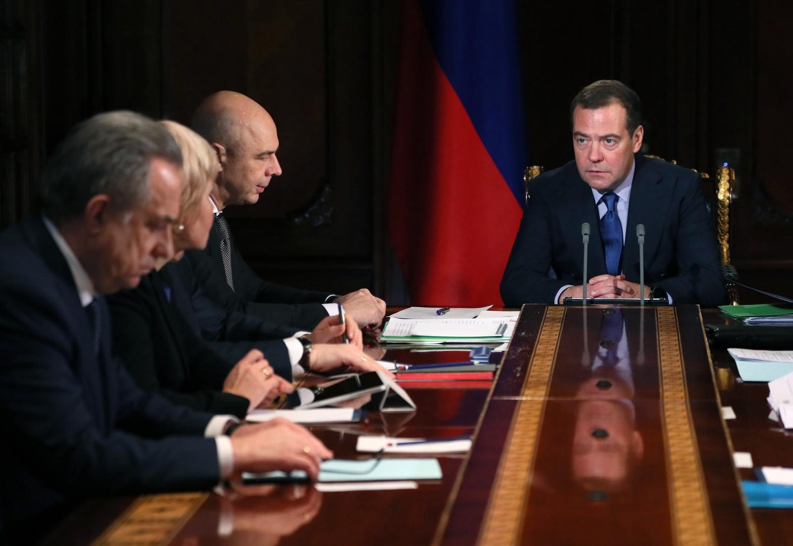 رئيس الحكومة الروسية، دميتري مدفيديف