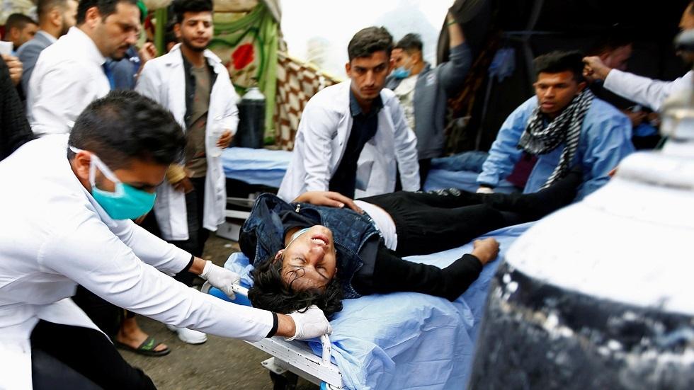 مراسلنا: نحو 20 حالة طعن في ساحة التحرير ببغداد