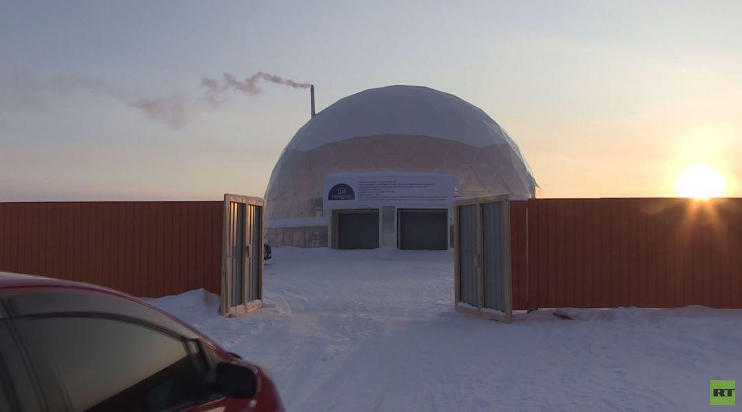 شاهد.. تجربة في يقوتيا الروسية بإقامة قبة مقاومة للبرودة فوق منزل لدراسة توفير الطاقة