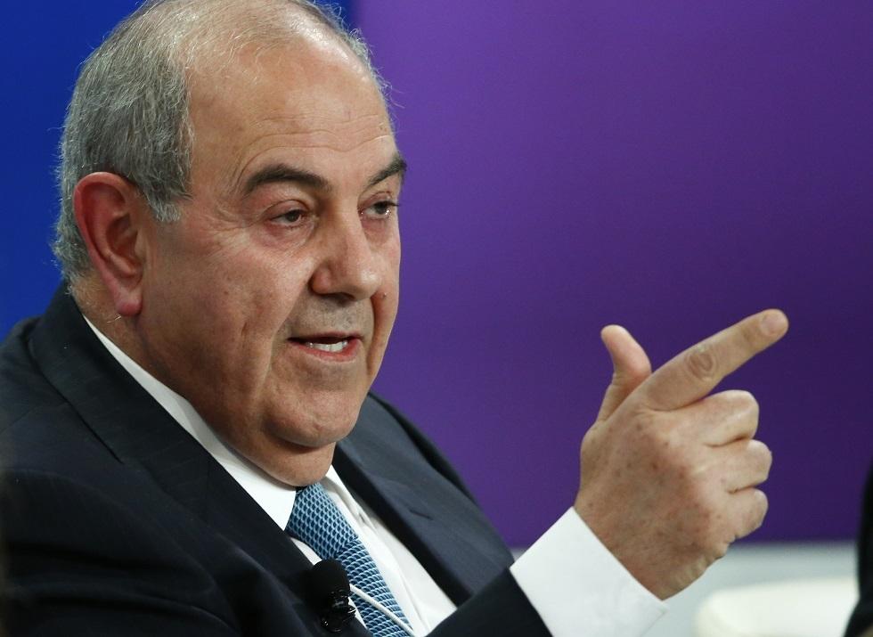 رئيس الوزراء العراقي الأسبق، إياد علاوي.
