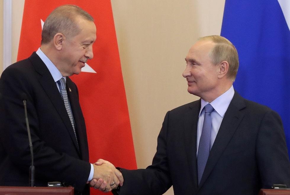 الرئيسان التركي رجب طيب أردوغان والروسي فلايديمير بوتين
