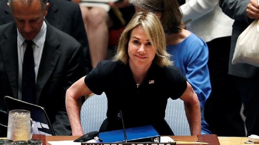 المندوبة الأمريكية لدى الأمم المتحدة، كيلي كرافت