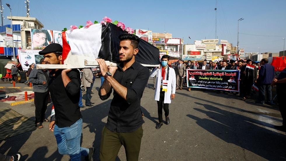 العراق.. حصيلة قتلى الاحتجاجات تلامس الـ500