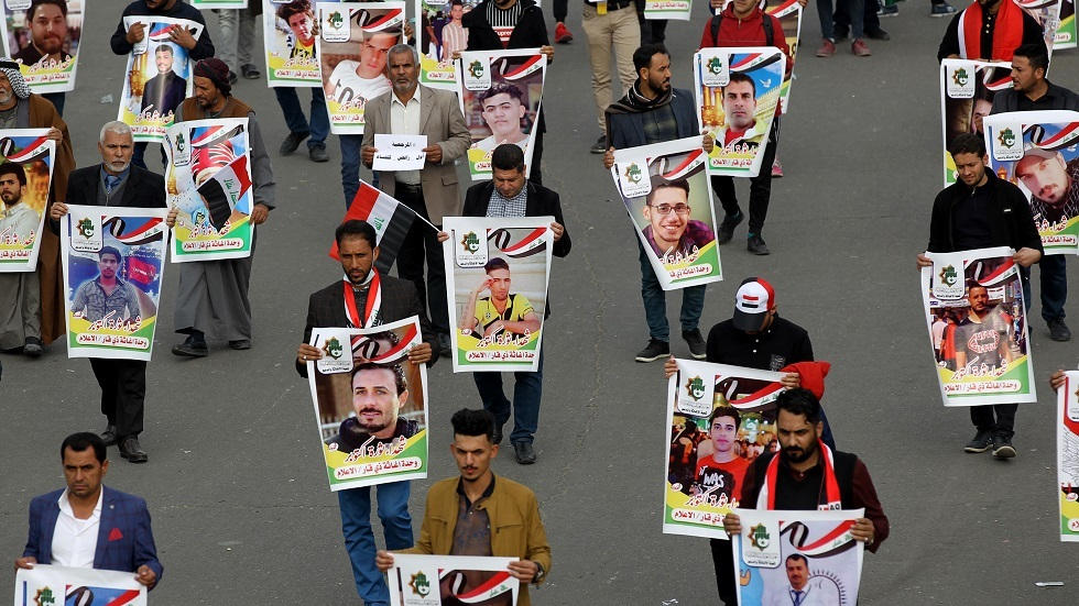 مقتل 10 متظاهرين وسط بغداد برصاص مسلحين مجهولين