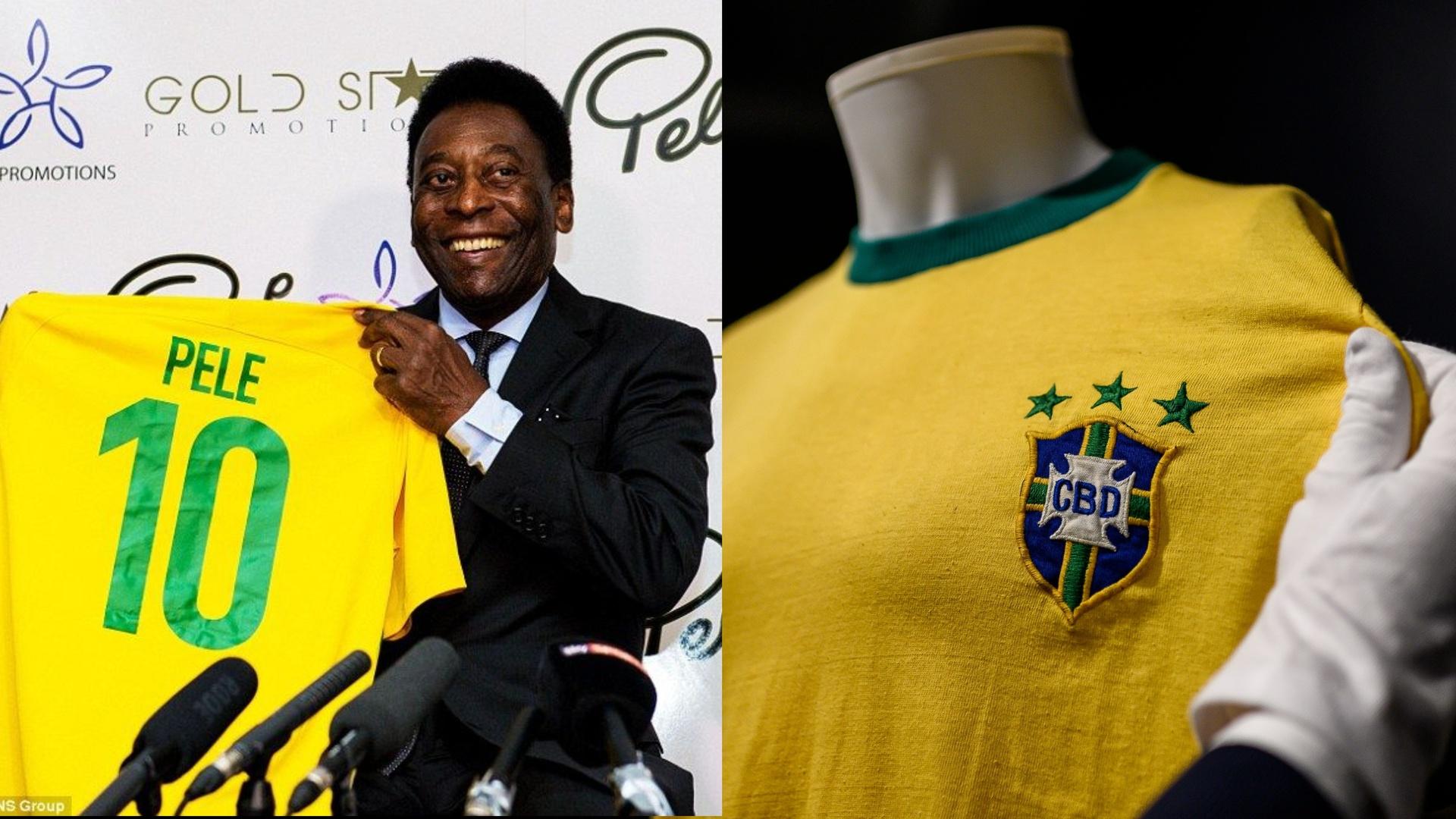 بيع قميص أسطورة كرة القدم البرازيلي بيليه بمزاد علني
