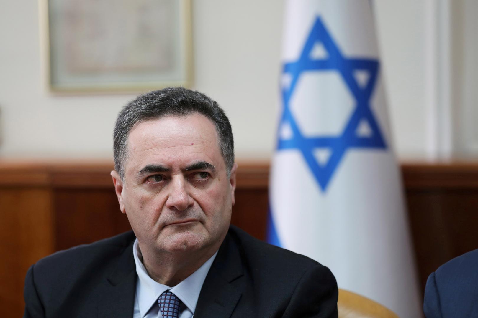 وزير الخارجية والاستخبارات الإسرائيلي، يسرائيل كاتس