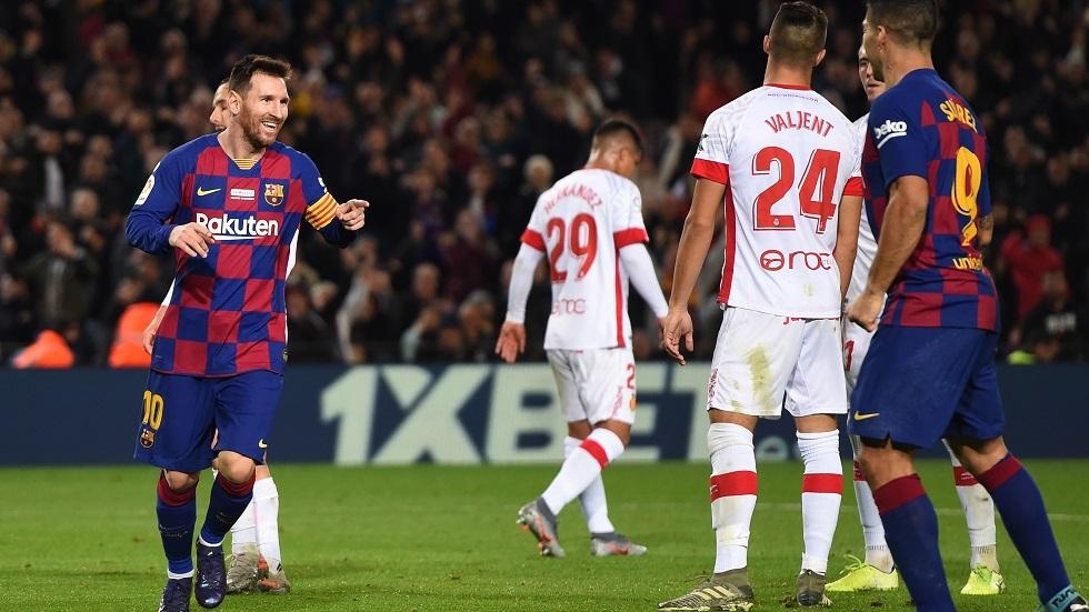 شاهد.. ميسي يقود برشلونة لاستعادة الصدارة بخماسية في شباك ريال مايوركا