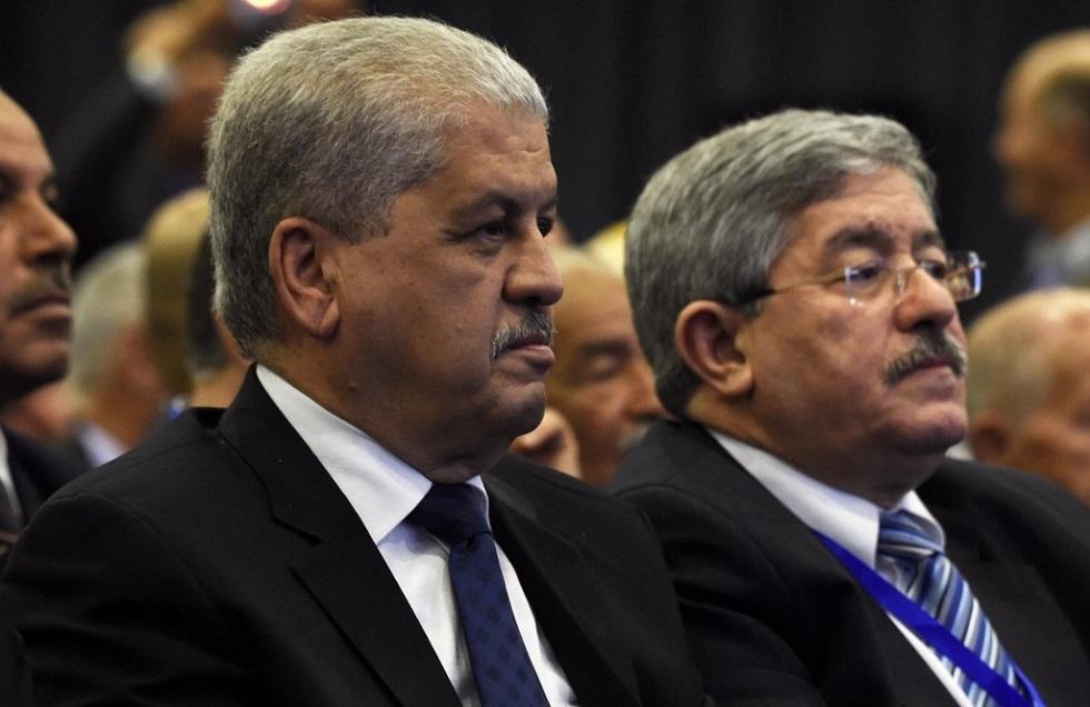 رئيسا الحكومة الجزائرية السابقان أحمد أويحيى وعبد الملك سلال