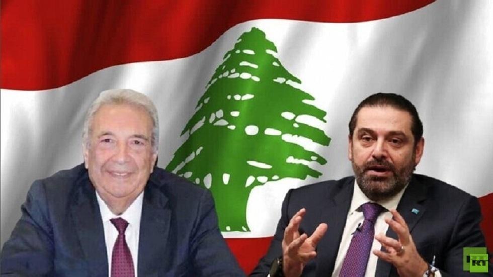 رئيس حكومة تصريف الأعمال اللبنانية سعد الحريري وسمير الخطيب