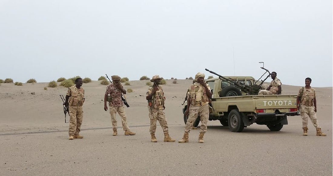 عناصر من الجيش السوداني في اليمن (أرشيف)