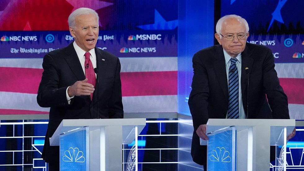 الانتخابات الأمريكية.. بايدن ينتقد ساندرز بسبب الفلسطينيين