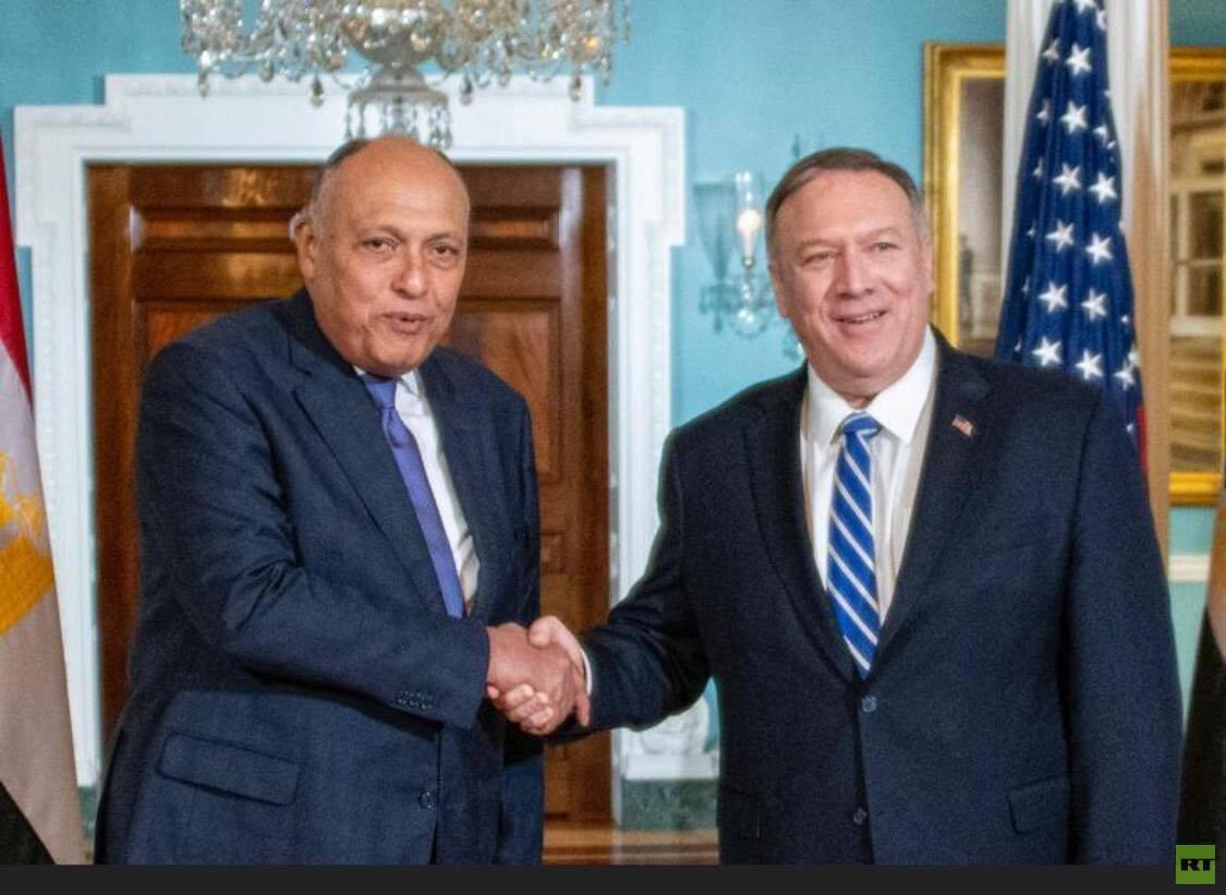 وزير الخارجية الأمريكي مع نظيره المصري