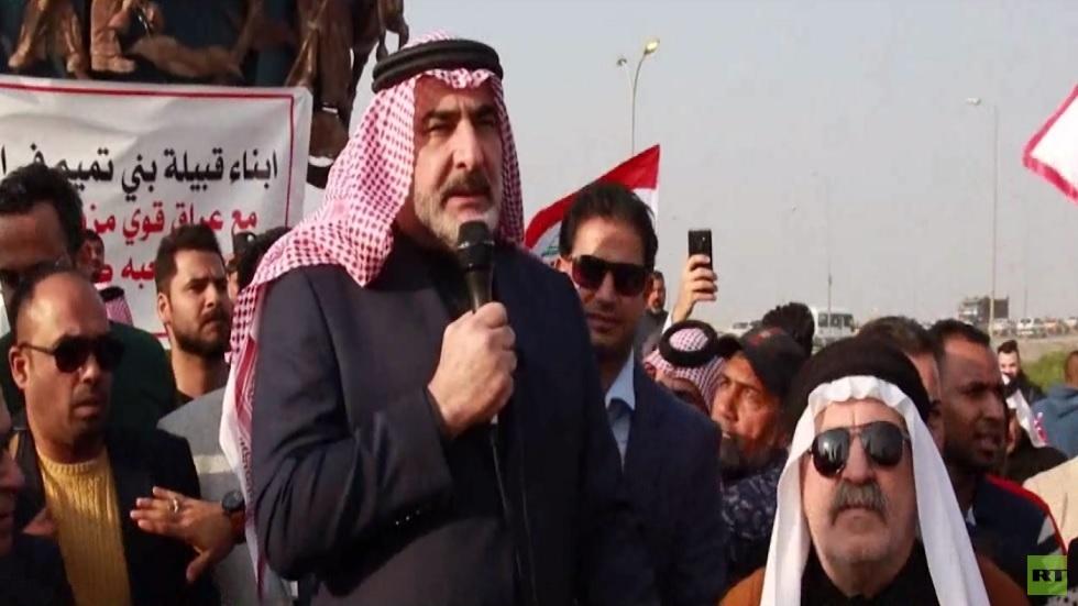 تظاهرة قبيلة بني تميم في البصرة العراقية