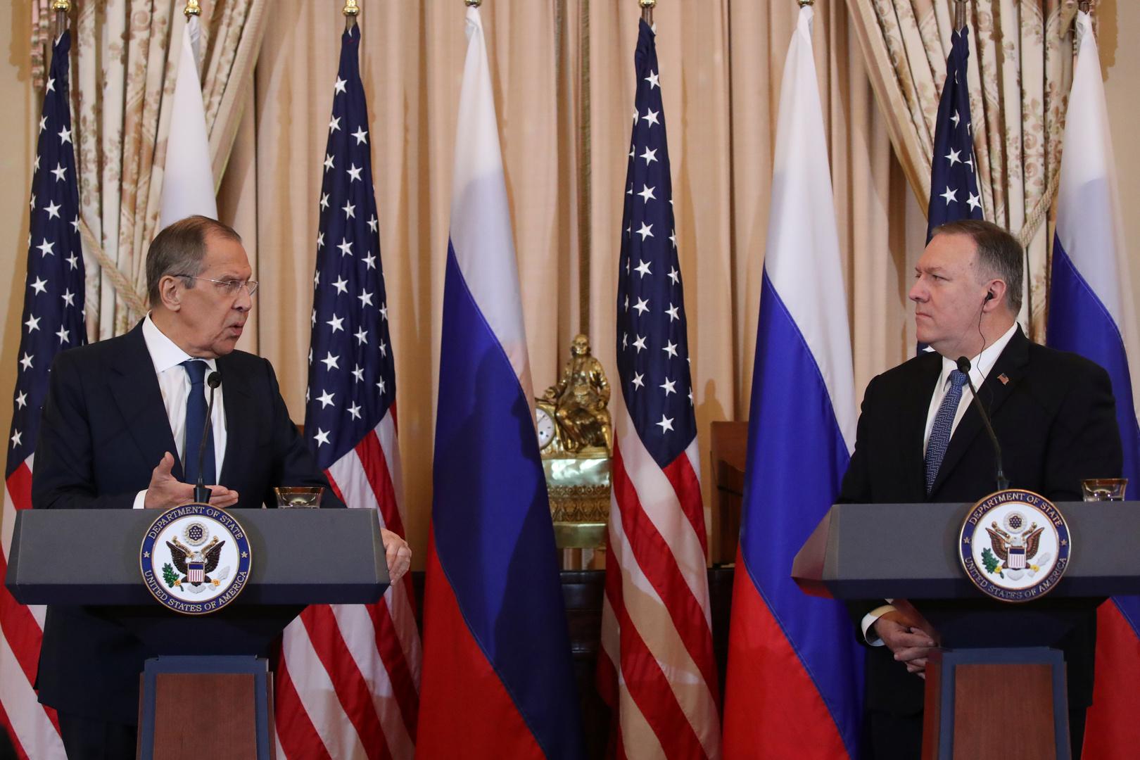 لافروف: مستوى العلاقات بين موسكو وواشنطن لا يتوافق مع مصالح البلدين والعالم