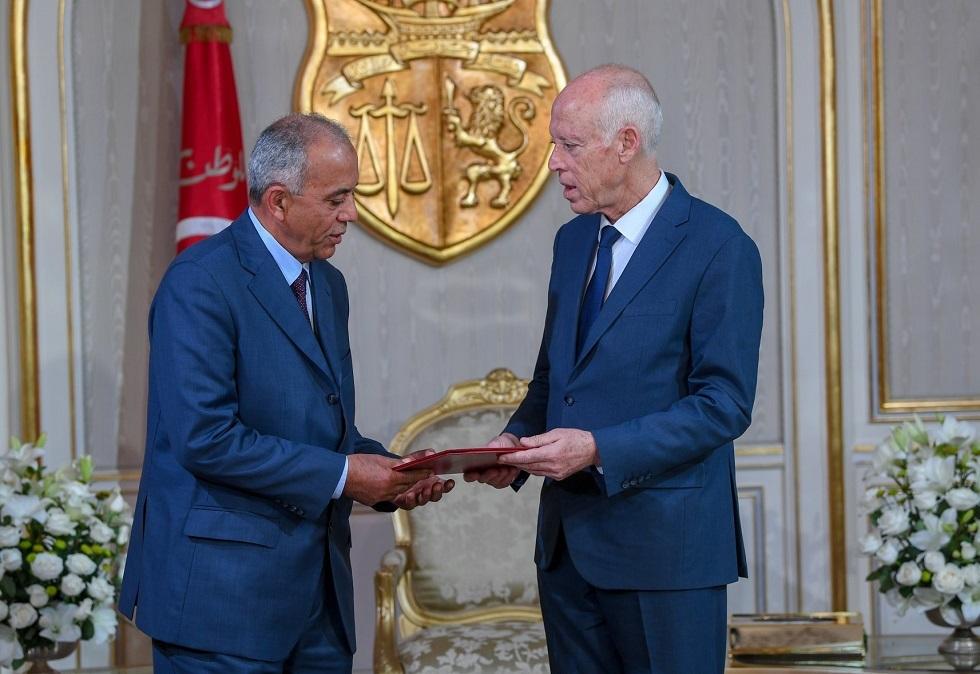 الرئيس التونسي قيس سعيد ورئيس الوزراء المكلفالحبيب الجملي