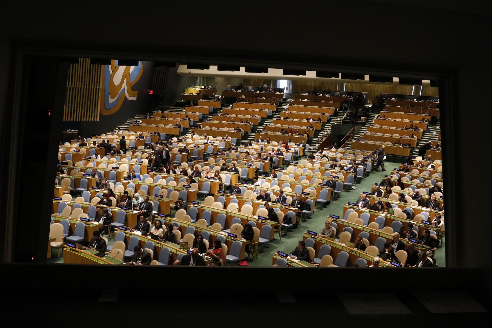 الجمعية العامة للأمم المتحدة تدعو لإنشاء منطقة خالية من