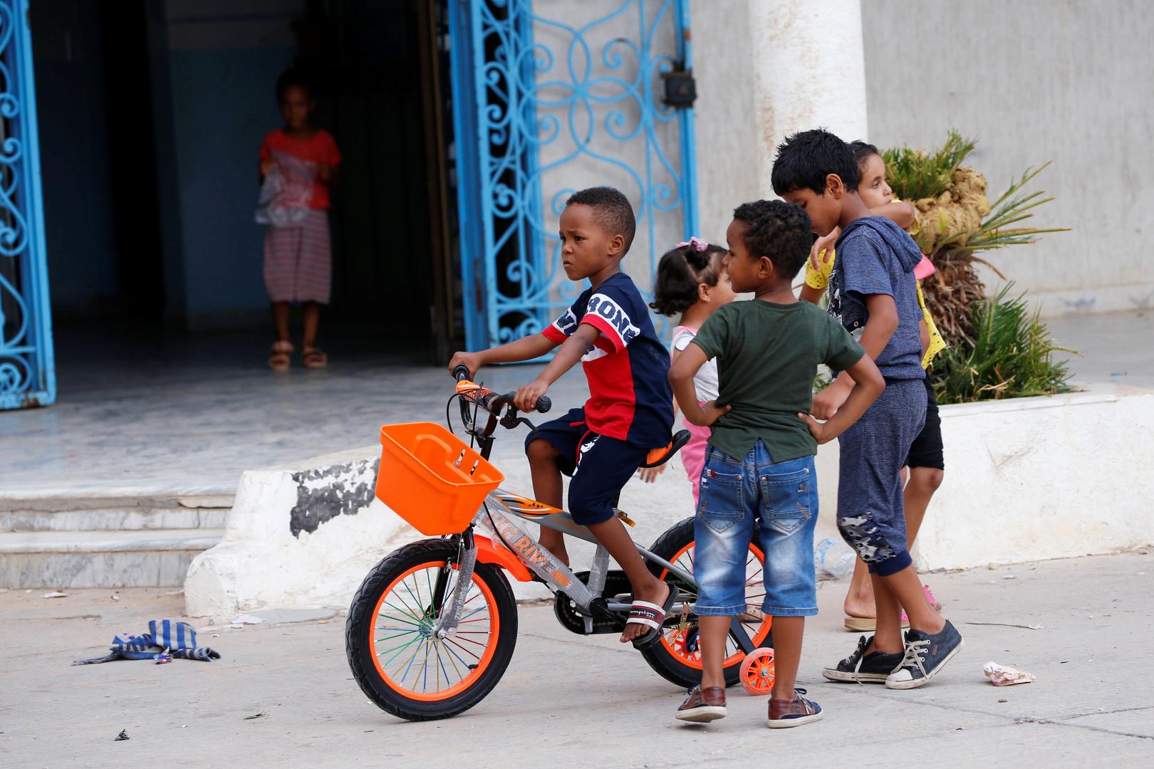 أطفال نازحون في ليبيا