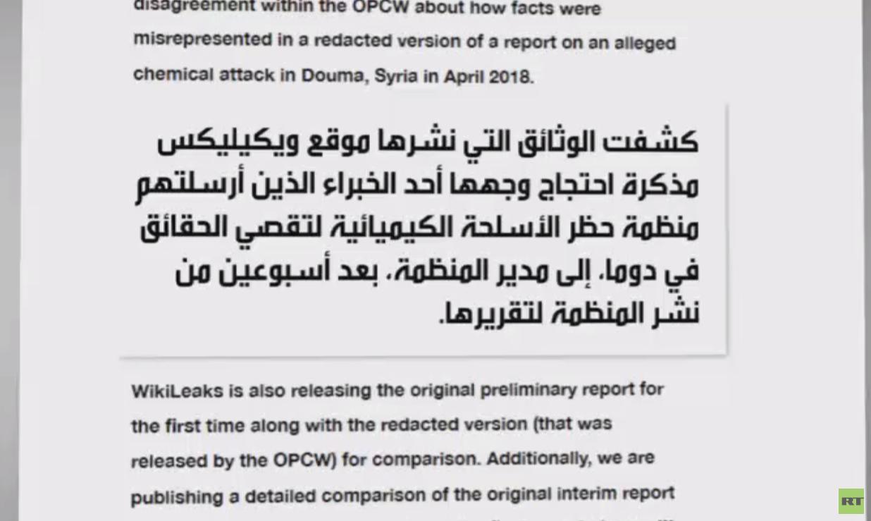 ويكيليكس ينشر وثائق حول الكيماوي في سوريا