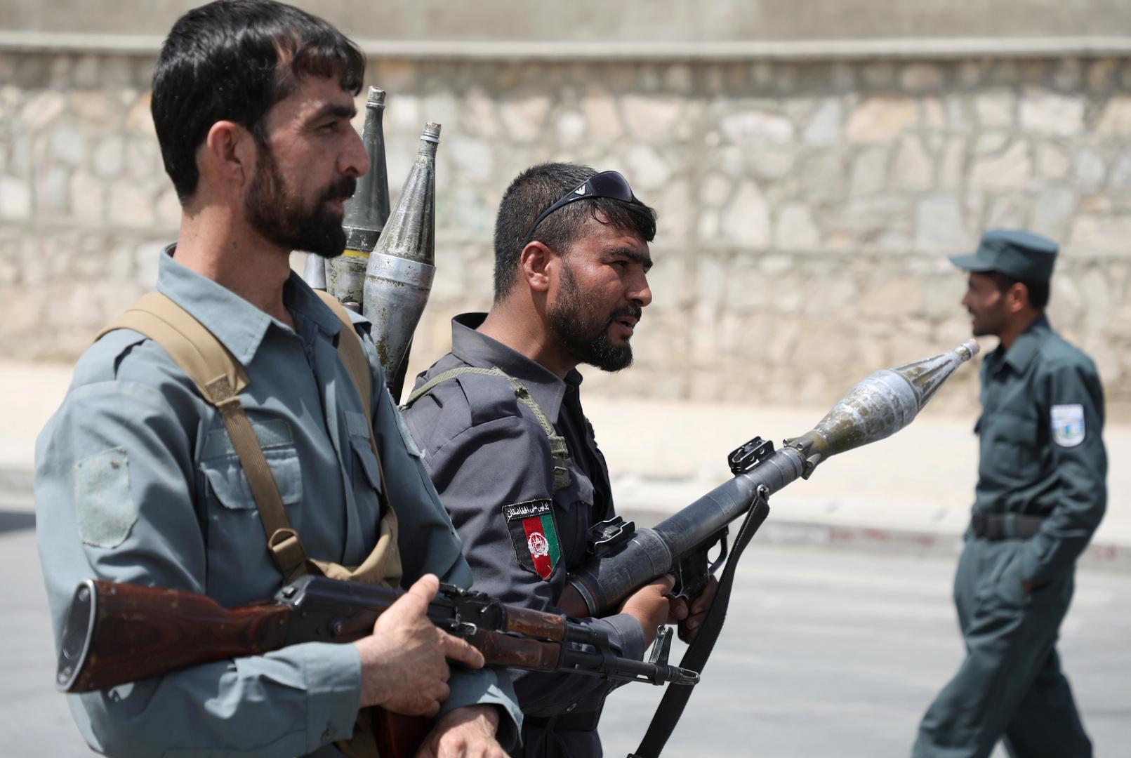 عناصر شرطة في أفغانستان