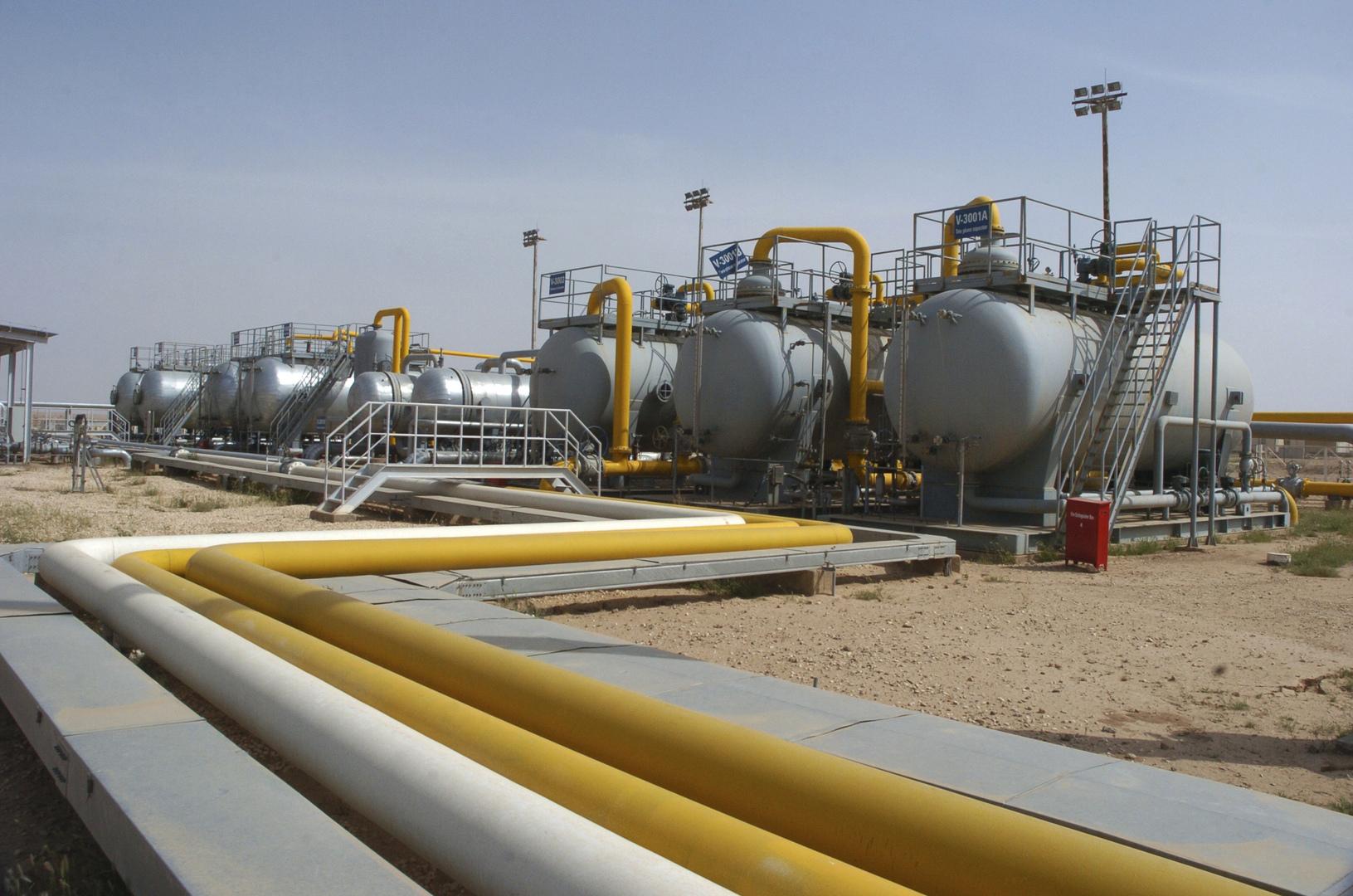 مصفاة تكرار النفط في مدينة الشدادي السورية (أرشيف).