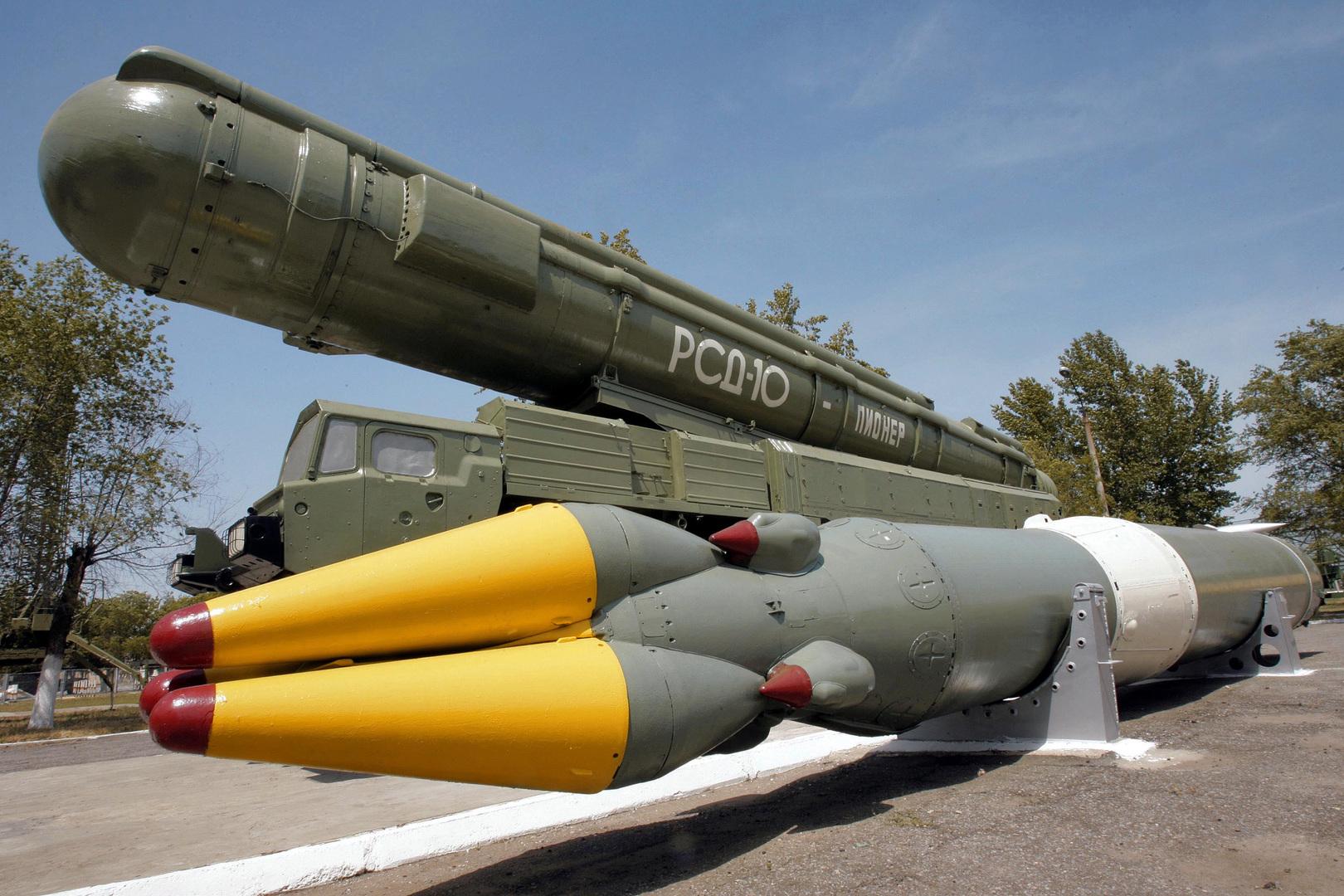 """صاروخ باليستي روسي متوسط المدى من طراز """"بيونير"""""""
