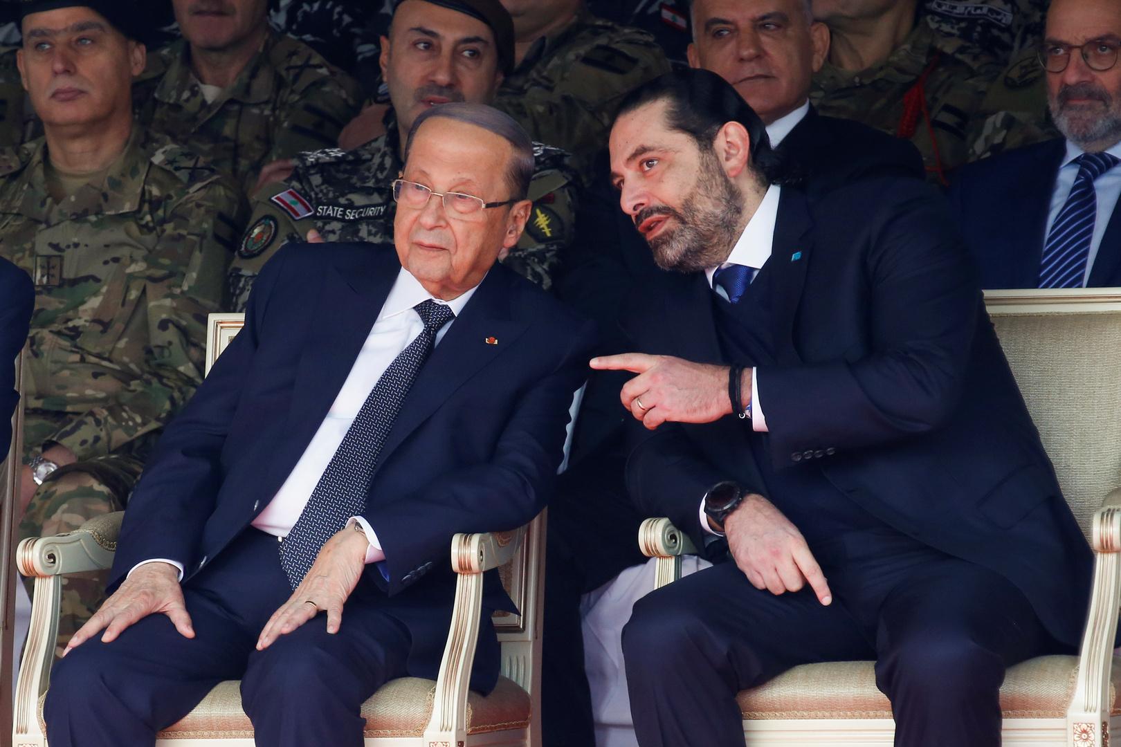 عون والحريري في احتفال الاستقلال