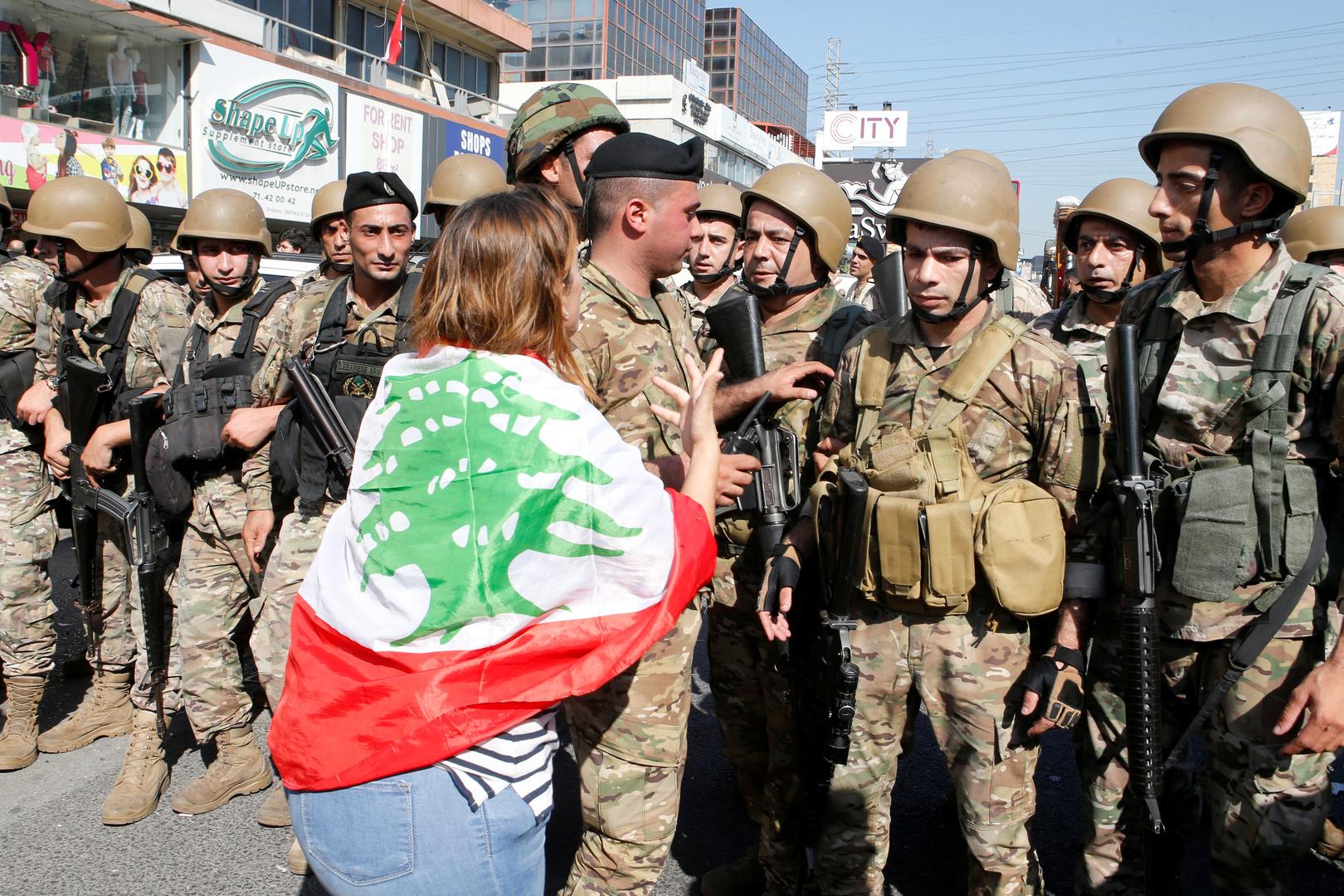 الجيش اللبناني: إعادة الوضع إلى ما كان عليه في وسط بيروت