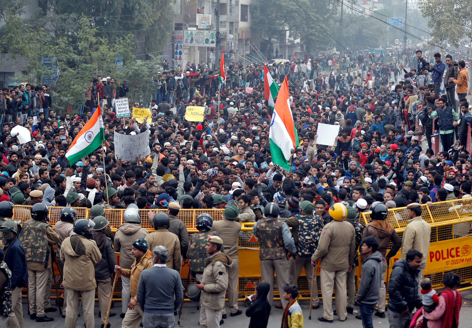 استمرار الاحتجاجات في الهند ضد قانون الجنسية