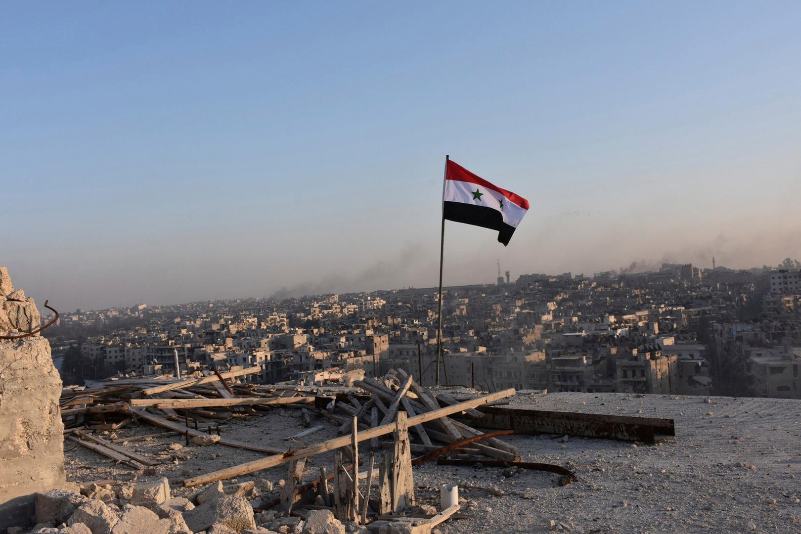 على سوريا على خلفية مدينة حلب (أرشيف)