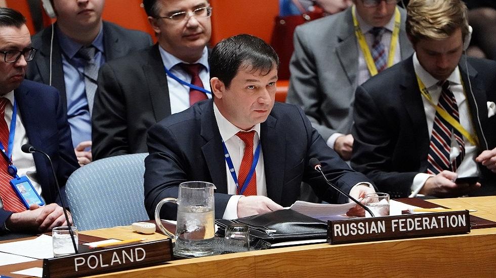 دميتري بوليانسكي، نائب مندوب روسيا الدائم لدى الأمم المتحدة (صورة أرشيفية)