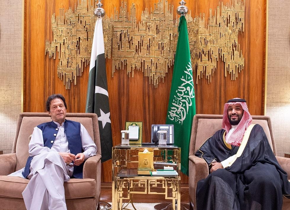 ولي العهد السعودي محمد بن سلمان ورئيس الوزراء الباكستاني عمران خان -أرشيف-