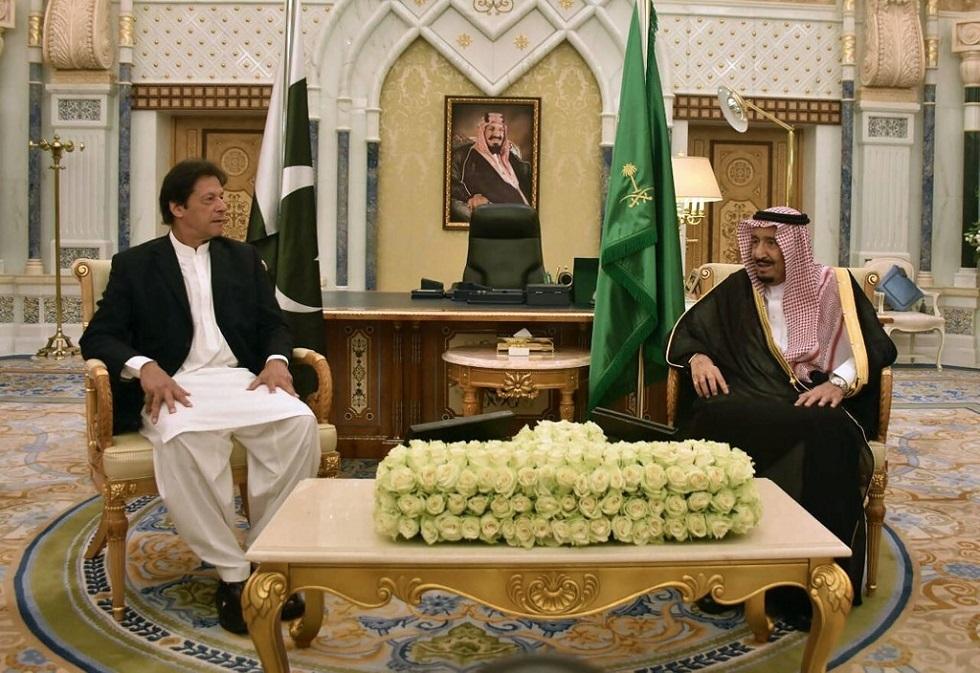 الملك السعودي سلمان بن عبد العزيز ورئيس الوزراء الباكستاني عمران خان