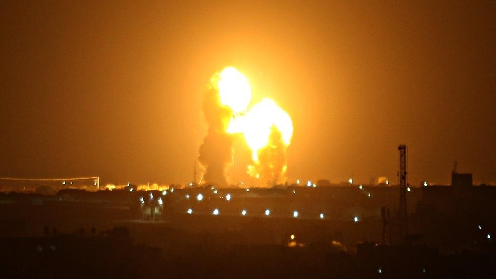 قصف إسرائيلي لخان يونس في قطاع غزة - أرشيف