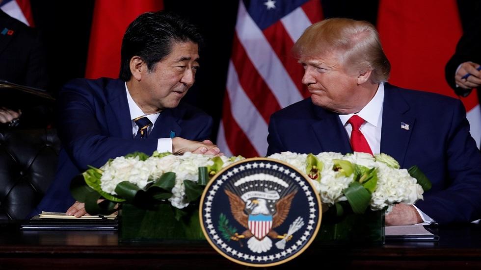 ترامب وآبي يبحثان هاتفيا ملفي كوريا الشمالية وإيران