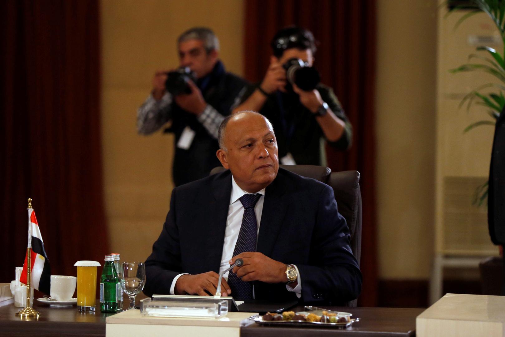 سامح شكري يحدد موقف مصر الفني والسياسي من اتفاق أردوغان والسراج