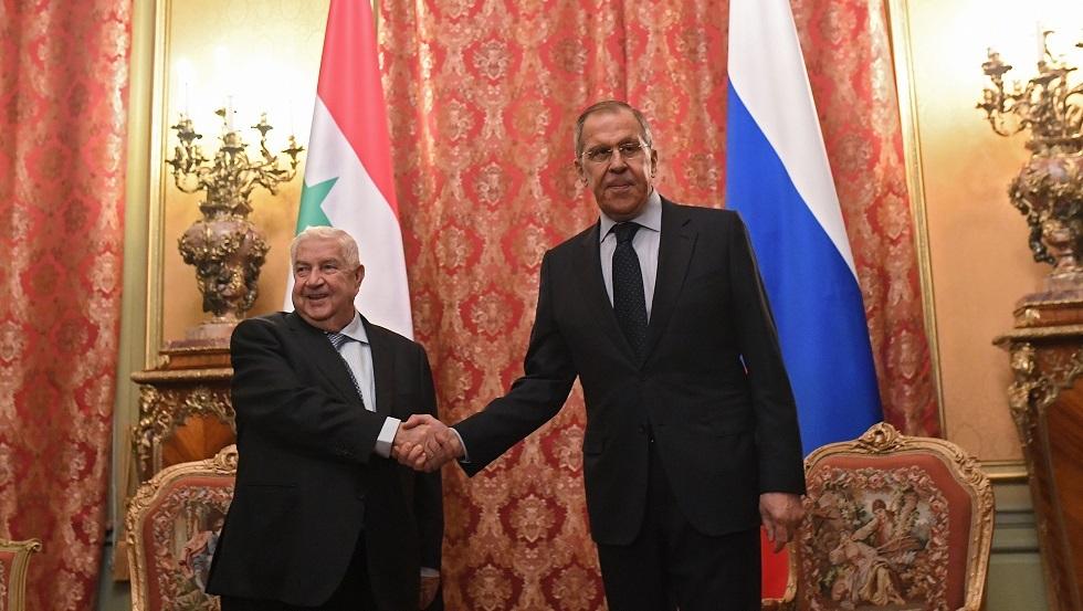 لافروف يبحث عمل اللجنة الدستورية السورية مع المعلم