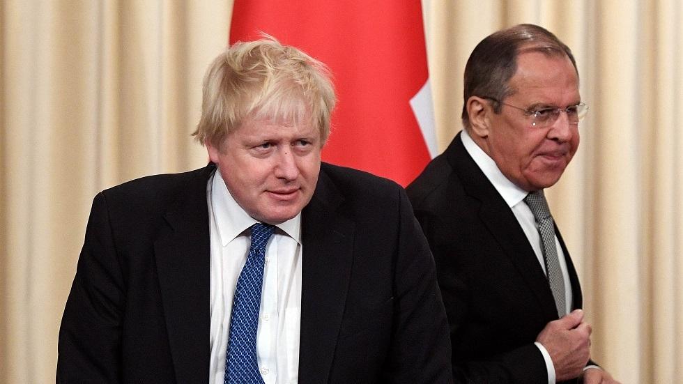 صورة أرشيفية (لقاء وزيري الخارجية الروسي، سيرغي لافروف، والبريطاني، بوريس جونسون 2017)