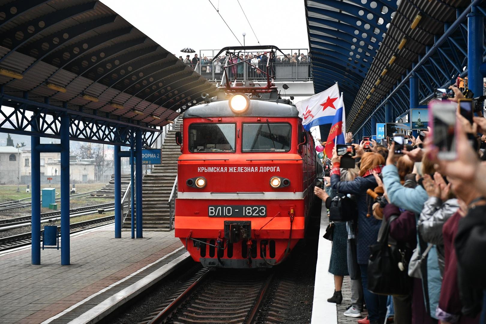 أول رحلة ركاب بالقطار تصل من بطرسبورغ إلى سيفاستوبول
