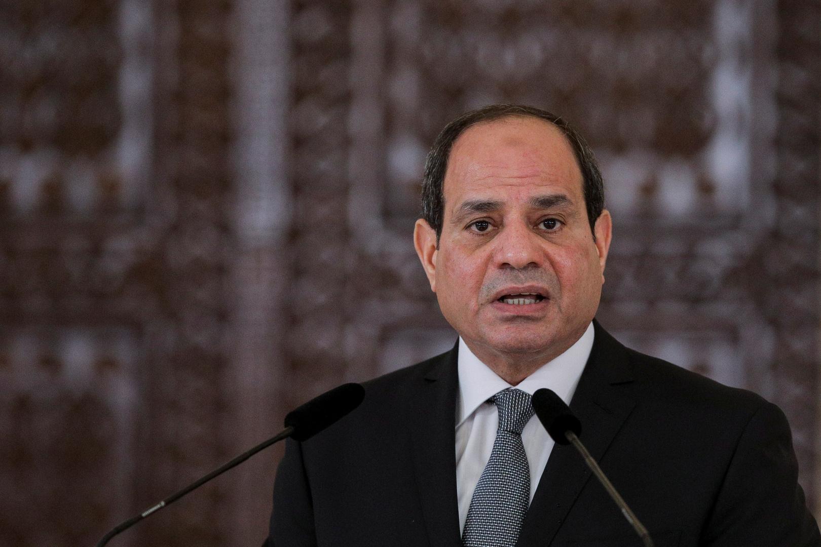 السيسي: مصر تسعى إلى حل سياسي في ليبيا