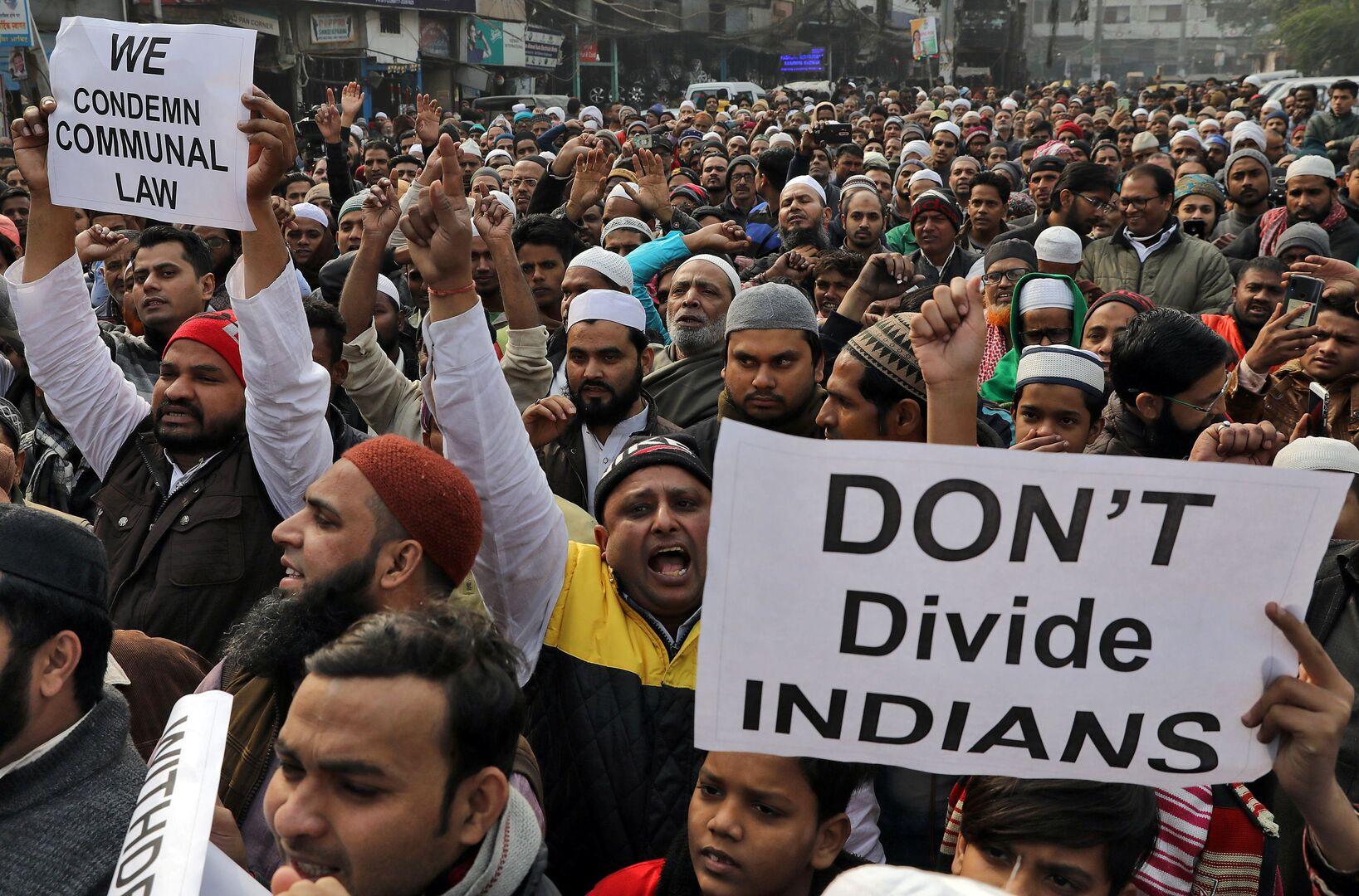 مظاهرة احتجاجية في الهند