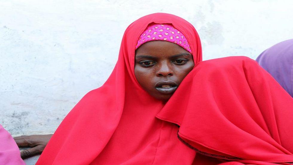 قالي إبراهيم (18 عاما) التي فقدت زوجها في انفجار شاحنة ملغومة في العاصمة الصومالية مقديشو