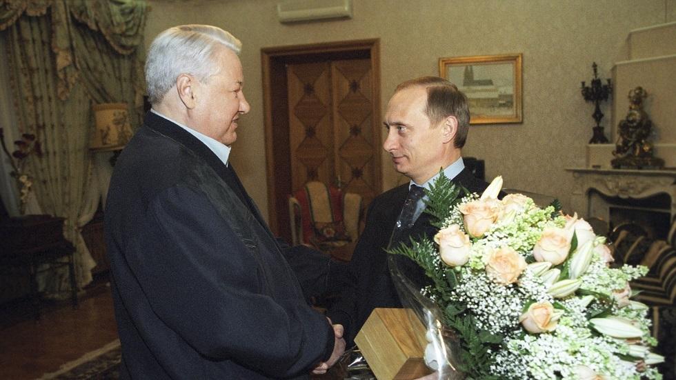 لقاء بين يلتسين وبوتين في 17 مارس 2000