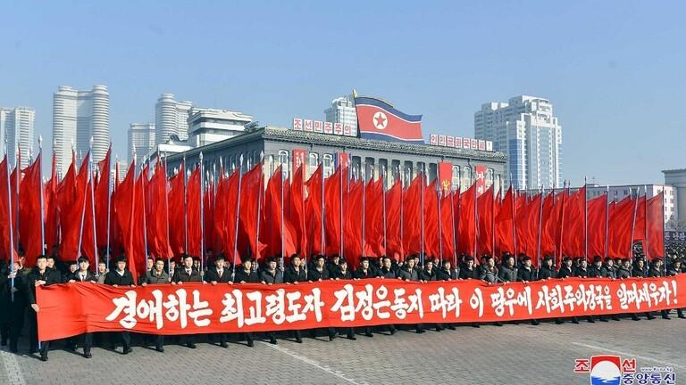 مسيرات حاشدة في كوريا الشمالية