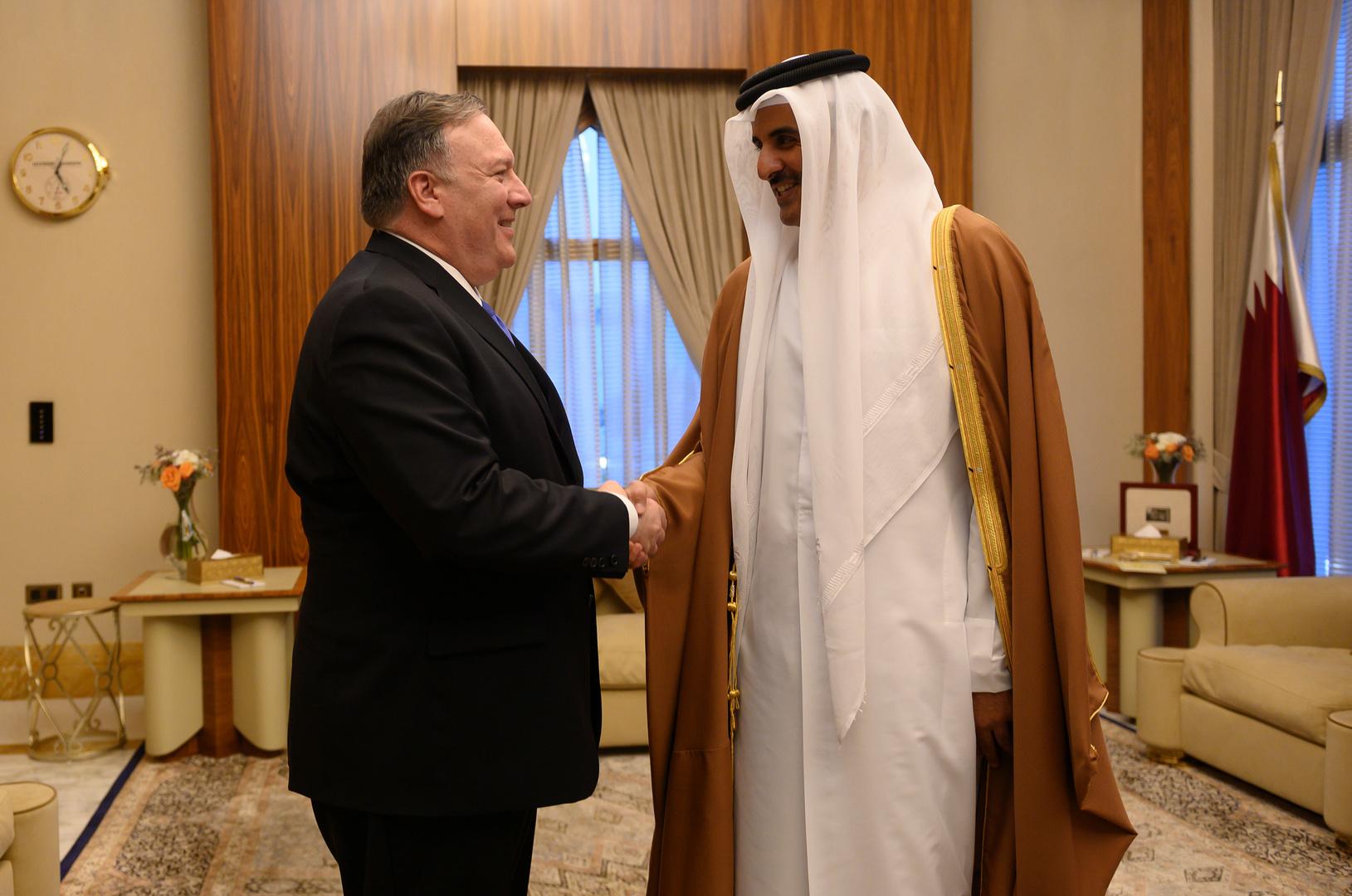 بومبيو يشكر أمير قطر على