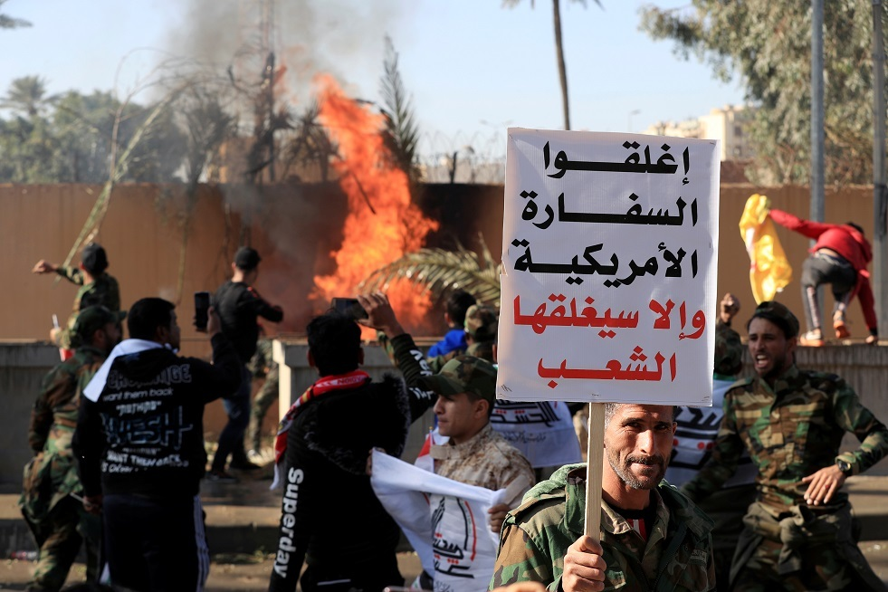 بومبيو يهاتف عبد المهدي بشأن الهجوم على السفارة الأمريكية