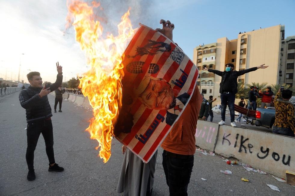 بالصور.. الأضرار التي لحقت بالسفارة الأمريكية في بغداد