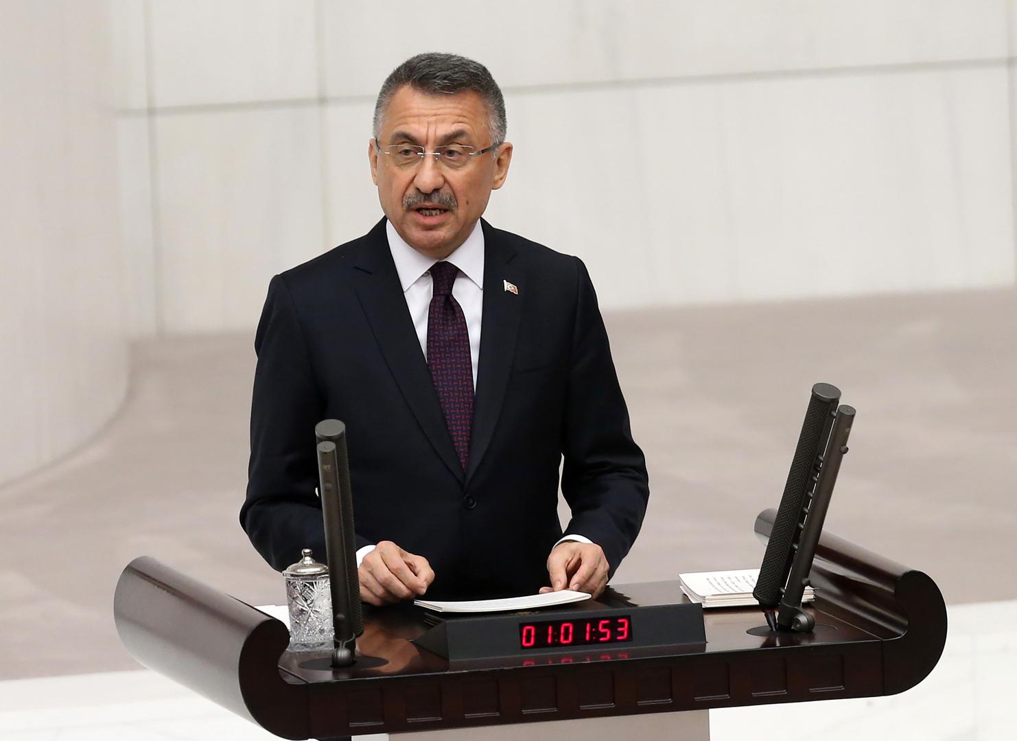 فؤاد أوقطاي، نائب الرئيس التركي (صورة أرشيفية)